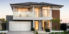 Webb & Brown-Neaves is an award winning Luxury Home Builder in Perth & WA. View our Custom Two Storey Homes Designs, find Display Homes & more. 2 Storey House Design, House Front Design, Roof Design, Modern House Design, Exterior Design, Facade House, House Roof, Double Storey House Plans, Storey Homes