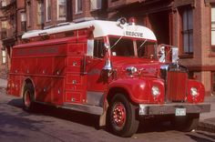 http://www.bostonfirehistory.org/photorigsrescue01c1972.jpg Rescue Co's 1964 Mack/Gerstenslager rescue truck, circa 1972. Shop #303.