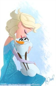 Elsa loves Olaf. :) <3