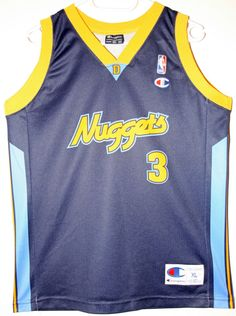 Champion NBA Basketball Denver Nuggets  3 Allen Iverson Trikot Jersey Size  36 - Größe b406534f0