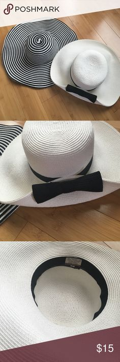Sun hats. EUC. black and white Bundle of Sun hats. EUC. black and white. Packable. Didn't wear the white one. Perfect for the pool and beach! Will accept reasonable offers. Other