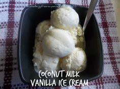 Vanilla Ice Cream (Dairy Free/ Refined Sugar Free/ Gluten Free) Making homemade dairy free icecream may be the only way to get my daughter to keep eating all the icecream I buy!