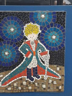 Mosaic Art Projects, Mosaic Crafts, Mosaic Designs, Mosaic Patterns, Christmas Mosaics, The Little Prince, Art Plastique, Needlepoint, Stained Glass