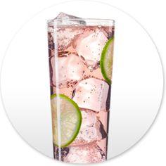 The Starlet - 1½ parts Skinnygirl™ Cucumber Vodka, 2 parts club soda , Splash of no sugar added cranberry juice