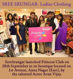 SREE SRUNGAR- Ladies Clothing: A Fashion show was done by top notch models from Bangalore and Chennai choreographed by one of Chennai's leading Choreographer Karun Raman.  SreeSrungar launched Princess Club on 28th September in its boutique located on 1st Avenue, Anna Nagar (East), by the talented Actor Arun Vijay.  http://lifeandtrendz.com/index.php?option=com_k2&view=item&id=245:sree-srungar-ladies-clothing&Itemid=165#.Uku1jlP9XJF #clothes #fashion #KarumRaman #ArunVijay #AnnaNagar