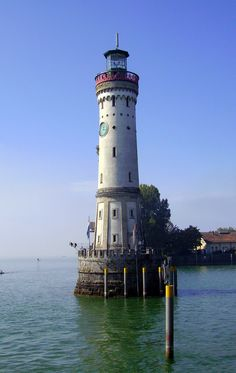 Lindau Lighthouse, Lake Constance Germany