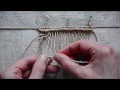 A small introduction to Macrame knotting - How to Weave? Makramee Design Elements.
