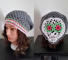 Sugar Skull Crocheted Slouch Hat FREE by JodysRagsToRiches on Etsy