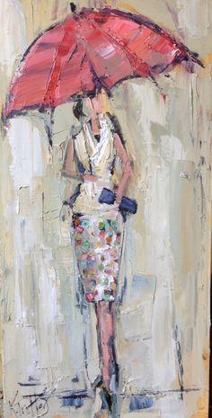 #kathryntrotterart.com#fashionladieswithumbrellas#fashionpaintings
