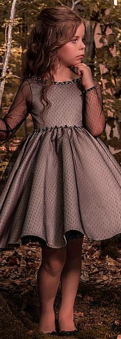 Fashionable Tulle Bateau Neckline Long Sleeves Short Length Ball Gown Flower Girl Dresses With Beadings Little Girl Dresses Ball Bateau Beadings dresses Fashionable flower girl Gown length Long Neckline Short Sleeves Tulle Gowns For Girls, Little Girl Dresses, Girls Dresses, Flower Girl Dresses, Girls Holiday Dresses, Trendy Dresses, Nice Dresses, Short Dresses, Fashion Dresses