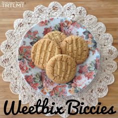 These Weetbix Biccies came about after creating my Marshmellow Weetbix Slice that I posted last night. I am always looking for more lunchbox treats and Biscuit Cookies, Biscuit Recipe, Yummy Cookies, Weetbix Slice, Cookie Recipes, Dessert Recipes, Desserts, Lunch Recipes, Baking Recipes