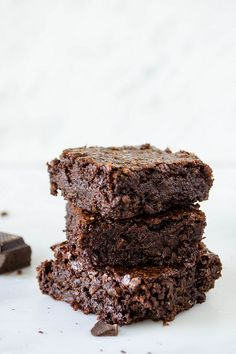 Rich Dark Chocolate Brownies (Gluten Free, Vegan, Refined Sugar Free) | cooking ala mel by cookingalamel, via Flickr