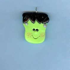$2.35 Frankenstein Polymer Clay Bow Centers, Beads, Chunky Pendants | thecornerclayshoppe - Handmade Supplies on ArtFire