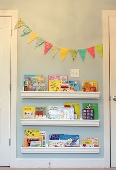 must make these: rain gutter shelves. Love This!!!!