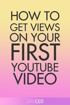 Scared about creating your first YouTube video? Want to know how to get views?