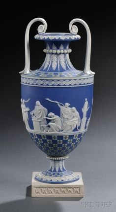 Wedgwood Three-color Jasper Dipped Diceware Vase, England, late 18th century