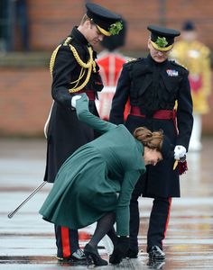 Kate (with her heel stuck in a grate) attending St. Patrick's Day parade on 3/17/2014