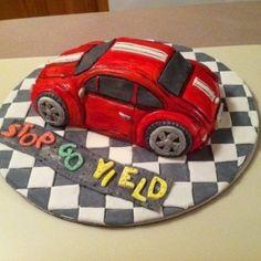 Car Cake Cake by Patty Cakes Cakes Motor Cake, Cupcake Cakes, Car Cakes, Cupcake Ideas, Pasta Cake, Black Food Coloring, Cake Cover, Cake Tins, Savoury Cake