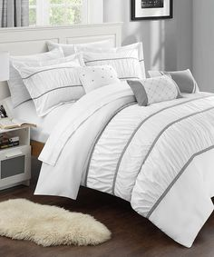 Look what I found on #zulily! White Calliope 10-Piece Comforter Set #zulilyfinds