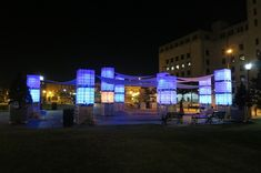 See the colorful light installation at Camden's new pop-up park: 'Blue Hour' - Technical.ly Philly