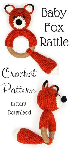 Such a cute baby rattle!! I like that I can make it myself and make the gift more personal!! #babyrattle #crochetpattern #affiliate #instantdownload #babyshowergifts
