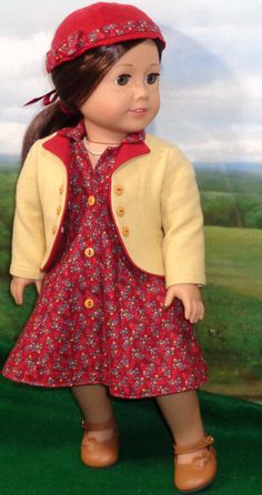 1930s/40s Dress with Wool Jacket and Felt Hat by SugarloafDollClothes. $65.00