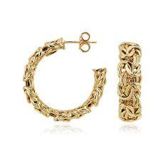 Blue Nile Byzantine Hoop Earrings in 18k Italian Yellow Gold (1) 5dJ8Ww4k5