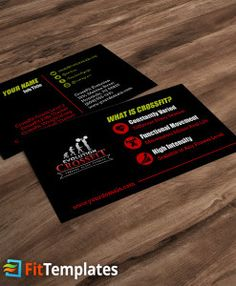 Crossfit box business card template crossfit box card templates crossfit affiliate business card template from fittemplates cheaphphosting Images