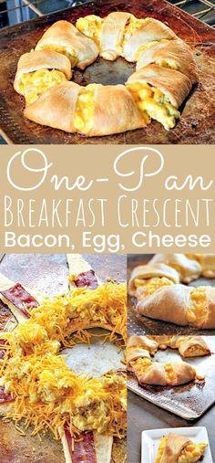 This delicious brunch one pan bacon, egg, and cheese breakfast crescent is super easy to bake. The perfect egg recipe for Easter brunch or breakfast anytime. Egg Recipes, Brunch Recipes, Brunch Menu, Brunch Buffet, Brunch Food, Easter Recipes, Chef Recipes, Potato Recipes, Cooker Recipes
