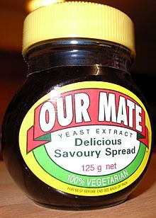 Our Mate – UK made Marmite branded for sale in Australia and New Zealand As Sanitarium has the exclusive right to the Marmite name in Australasia, Unilever International sells the British Marmite as Our Mate in Au. Justus Von Liebig, A Food, Food And Drink, New Zealand Food, Yeast Extract, Marmite, Beer Brewing, Superfoods, New Recipes