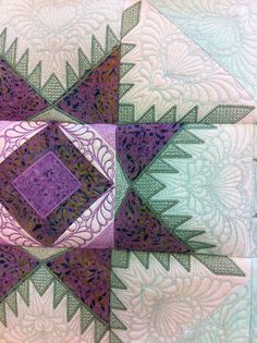 hoop sisters embroidery feathered star quilt - Google Search