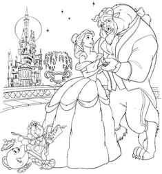 belle and beast in a beautiful night disney princess coloring pages printable and coloring book to print for free. Find more coloring pages online for kids and adults of belle and beast in a beautiful night disney princess coloring pages to print. Belle Coloring Pages, Disney Princess Coloring Pages, Disney Princess Colors, Disney Colors, Disney Princess Belle, Cartoon Coloring Pages, Coloring Book Pages, Printable Coloring Pages, Disney Princesses