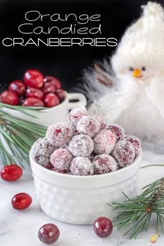 Orange Candied Cranberries are the perfect snack | Cooking on the Front Burner