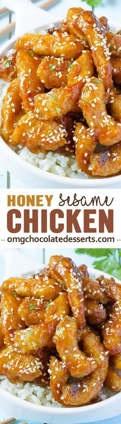 Magnificent Baked Honey Sesame Chicken is a delicious and easy dinner recipe for cooking the chicken. The post Baked Honey Sesame Chicken is a delicious and easy dinner recipe for cooking the appeared first on Recipes . Asian Recipes, New Recipes, Favorite Recipes, Recipes Dinner, Lunch Recipes, Tofu Recipes, Mexican Recipes, Easy Chicken Dinner Recipes, Chicken Ideas