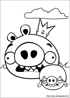 Angry Birds Coloring Picture