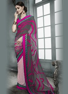 Buy indian designer sarees online for all occasions. Grab this haute georgette designer saree Indian Designer Sarees, Designer Sarees Online, Indian Sarees, Designer Sarees Collection, Saree Collection, Indian Dresses, Indian Outfits, Suits For Women, Clothes For Women