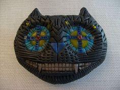 Patrick-Eddington-US-Utah-1953-2016-Art-Pottery-Hand-Crafted-Brooch-Signed