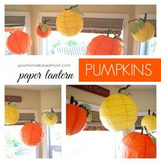 Ready for some fall decorations? Paper Lantern Pumpkins - via your homebased mom
