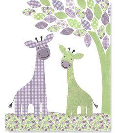 Nursery Art Print Giraffe Decor Green and by SweetPeaNurseryArt, $15.00 @Stephanie Sunshine