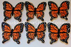 Inspiring way to decorate our Monarch Butterfly cookie cutters.
