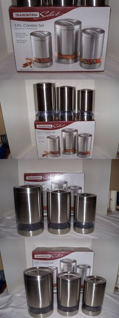 Canisters And Jars 20654: Stainless Steel ~Canisters~Nib~ Tramontina 3 Piece