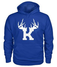 bc8ef078d1520 Bucks of Kentucky Antler Logo Hoodie