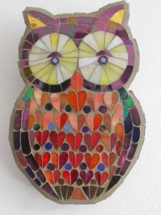 Owl with Orange Hearts by Catherine van Giap