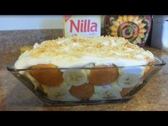 How to make a No Bake Banana pudding w/ Nilla Wafers- 99 CENTS ONLY stor...