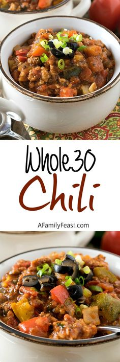 Whole30 Chili - An easy and delicious chili that anyone will love. All ingredients are Whole30 compliant.