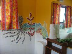 Bathroom at the Black Gecko Holiday Apartment Piha