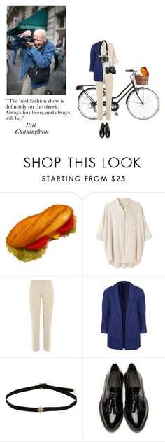 """""""Bill Cunningham"""" by yellowgrapes ❤ liked on Polyvore featuring Retrò, Steven Alan, Etro, Topshop, Nikon, Burberry, polyvoreeditorial and billcunningham"""