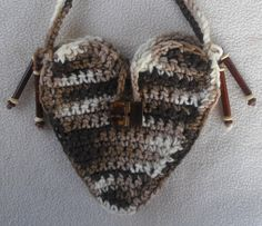Heart Shaped Mini Purse Shades of Brown with by HoneyBeadsJewels, $18.99