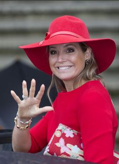 Queen Maxima of The Netherlands, attend a symposium organised by Blijf van mijn Lijf, marking 40 years of the protection of women against domestic violence on October 14, 2014 in Amsterdam, The Netherlands.