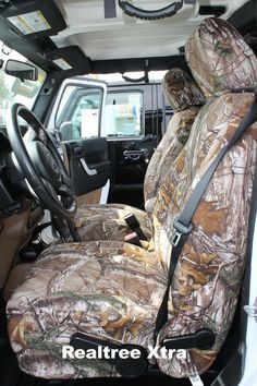 Realtree Xtra Camo Seat Covers Lowered TrucksLifted